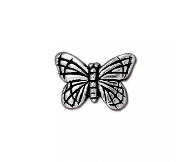 16mm Monarch Butterfly Bead by TierraCast, Antique Silver, 1 Piece