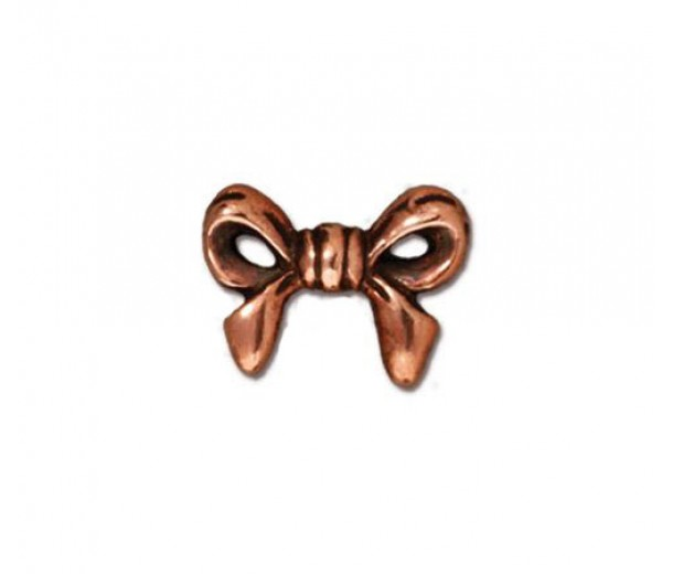 10mm Bow Bead by TierraCast, Antique Copper, 1 Piece