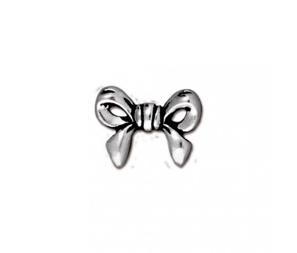 10mm Bow Bead by TierraCast, Antique Silver, 1 Piece