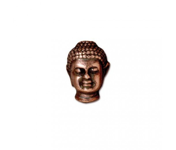 14mm Buddha Bead by TierraCast, Antique Copper, 1 Piece