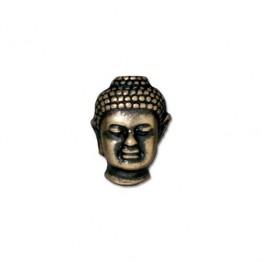 14mm Buddha Bead by TierraCast, Brass Oxide