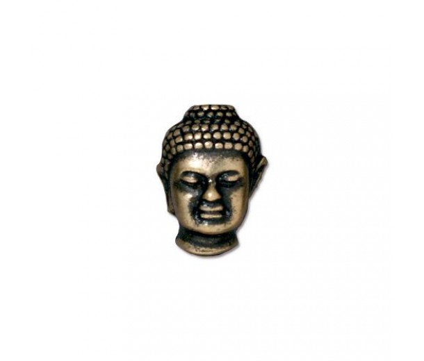 14mm Buddha Bead by TierraCast, Brass Oxide, 1 Piece