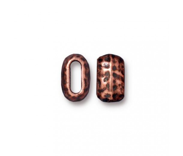 10mm Barrel Beads by TierraCast, Antique Copper, Pack of 4