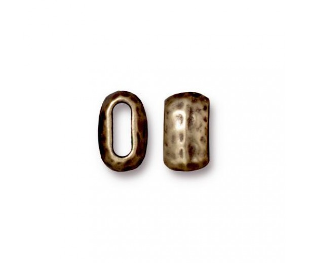10mm Barrel Bead by TierraCast, Brass Oxide