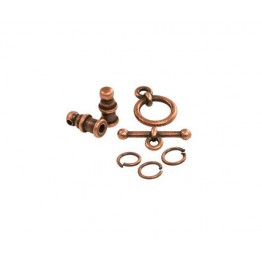 Pagoda Cord End Set by TierraCast for 2mm Cord, Antique Copper