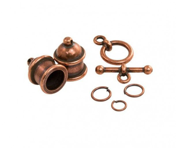 Pagoda Cord End Set by TierraCast® for 8mm Cord, Antique Copper