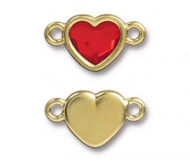 20x11mm Heart Link by Tierracast®, Gold Plated Light Siam