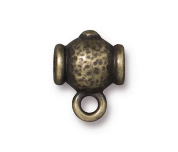 12mm Guru Slider Bail by TierraCast, Antique Brass