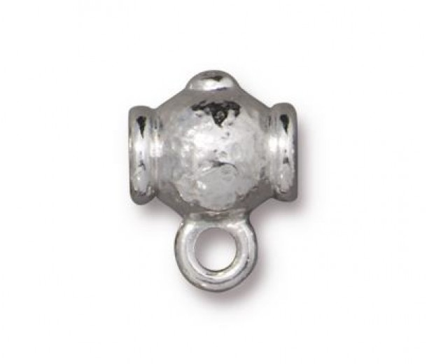 12mm Guru Slider Bail by TierraCast, Bright Rhodium, 1 Piece