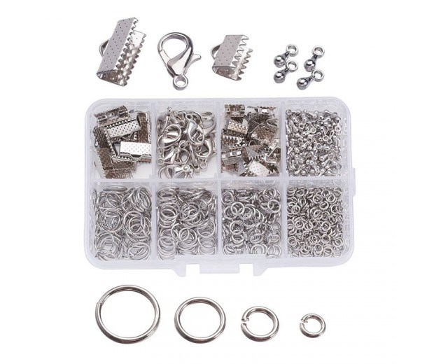 Findings Mix with Organizer, Rhodium Plated