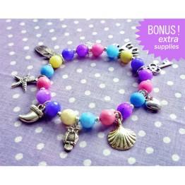 Colorful Stretch Charm Bracelet Kit