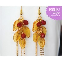 Fall Leaves and Berries Earrings Kit