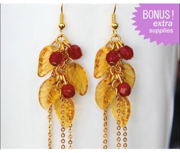 Fall Leaves and Berries Earrings Kit