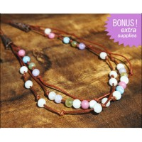 Colorful Multistrand Leather Necklace Kit