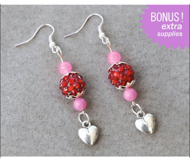 Heart Charm Earrings Kit