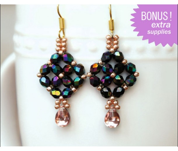 Diamond Pattern Earrings Kit
