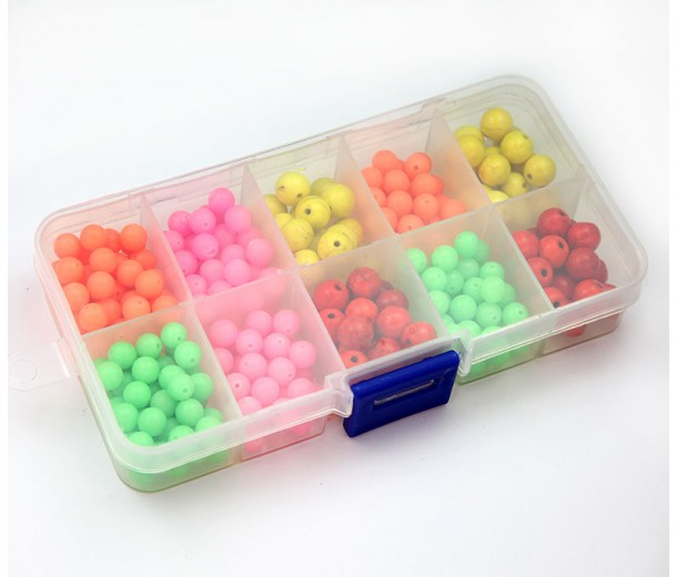 Neon Mix Beading Kit with Organizer
