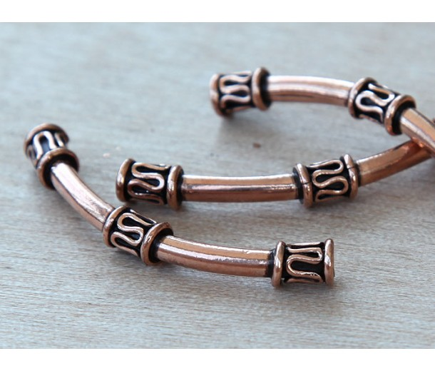 45mm Tube Genuine Copper Beads, Bali Style