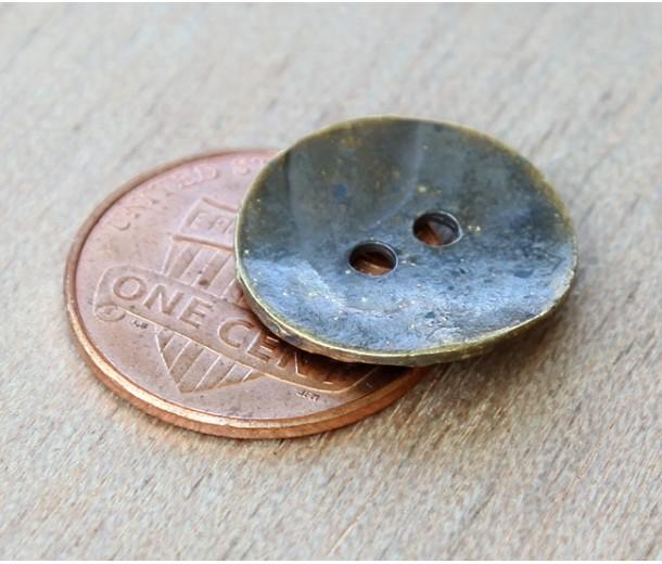 16mm Cornflake Button Beads, Antique Brass
