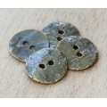 16mm Cornflake Button Beads, Antique Brass