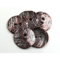 16mm Cornflake Button Beads, Bronze Plated, Pack of 6