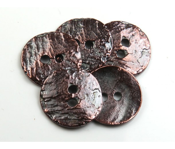 16mm Cornflake Button Beads, Bronze Plated, Pack of 4