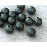 6mm Round Stardust Beads, Antique Brass
