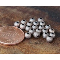 4mm Round Stardust Beads, Antique Copper