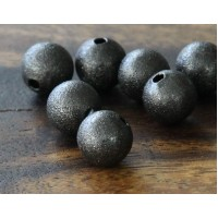 10mm Round Stardust Beads, Gunmetal, Pack of 25