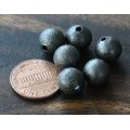 10mm Round Stardust Beads, Gunmetal, Pack of 25