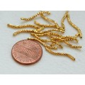 20mm Twisted Tube Beads, Gold Tone, Pack of 25
