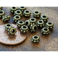 5mm Rondelle Spacer Beads, Antique Brass
