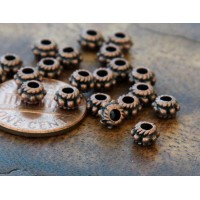 5mm Rondelle Spacer Beads, Antique Copper, Pack of 100