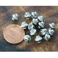 7mm Bicone Beads, Antique Silver, Pack of 40