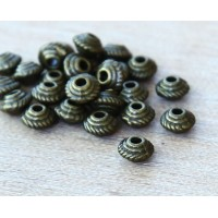 5mm Saucer Beads, Antique Brass, Pack of 100