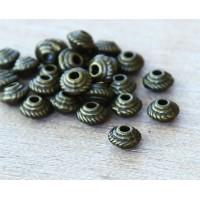5mm Saucer Beads, Antique Brass