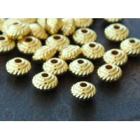 5mm Saucer Beads, Gold Tone