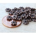 6mm Daisy Spacer Beads, Antique Copper, Pack of 50