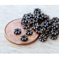 4mm Daisy Spacer Beads, Antique Copper, Pack of 100