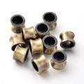 11x8mm Large Hole Flared Tube Beads, Antique Brass