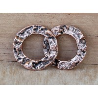 -16mm Textured Linking Rings, Antique Copper, Pack of 6