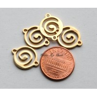 13x17mm Flat Swirl Links, Gold Plated, Pack of 10