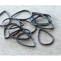 11x16mm Teardrop Links, Gunmetal, Pack of 20