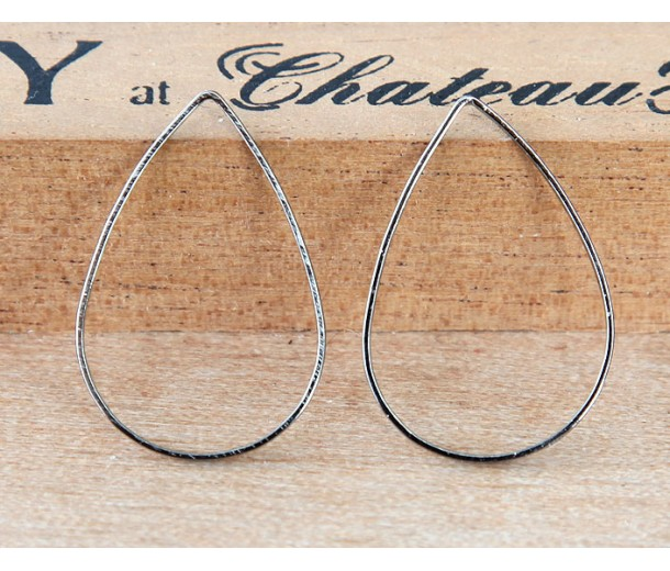 17x25mm Teardrop Links, Gunmetal