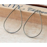 25x38mm Teardrop Links, Gunmetal, Pack of 6