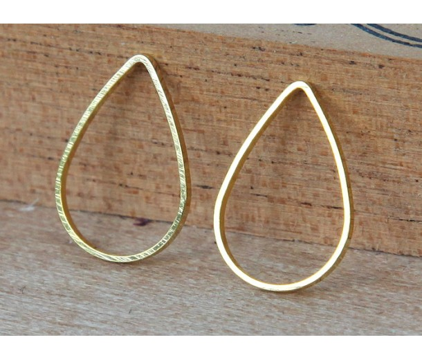 11x16mm Teardrop Links, Gold Tone, Pack of 20