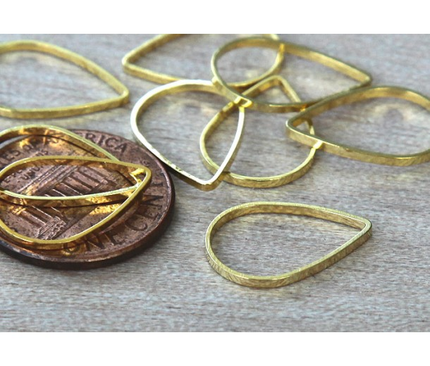 11x16mm Teardrop Links, Gold Tone