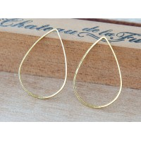 17x25mm Teardrop Links, Gold Tone
