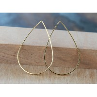 25x38mm Teardrop Links, Gold Tone, Pack of 6