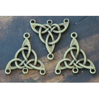 25x28mm Celtic Chandelier Components, Antique Brass, Pack of 4